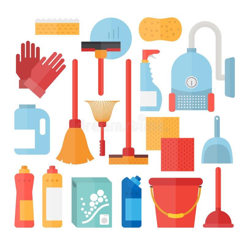 Rifornimenti di servizio di pulizia royalty illustrazione gratis