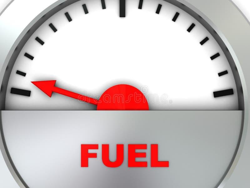Rifornisca la scala di combustibile illustrazione vettoriale