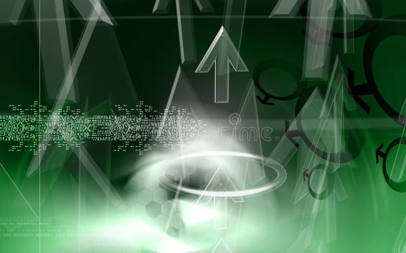 Rifrazione in un diamante con il turbinio illustrazione vettoriale