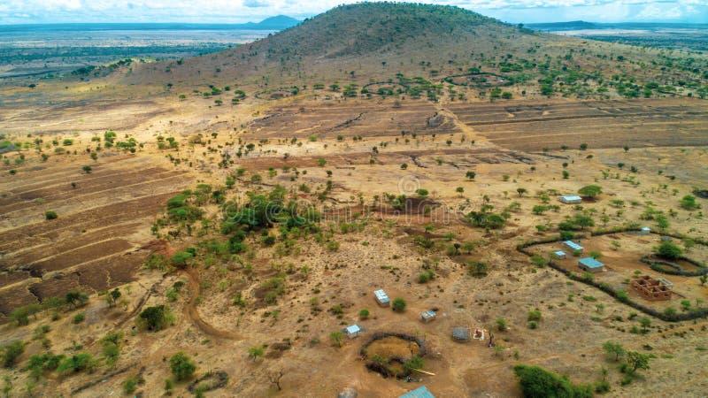 Rift Valley geografico della caratteristica, Tanzania fotografia stock libera da diritti