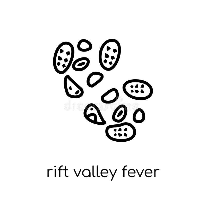 Rift Valley-koortspictogram In modern vlak lineair vectorrift va royalty-vrije illustratie
