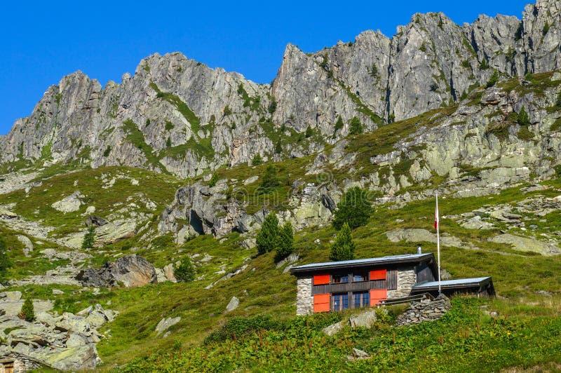 Rifugio della montagna immagini stock libere da diritti