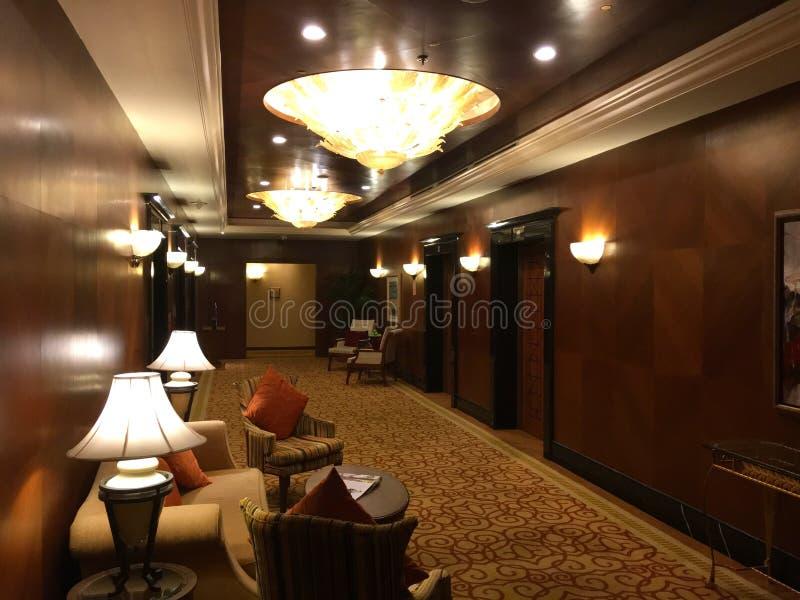 Rifugio per ascensore in albergo di lusso fotografia stock