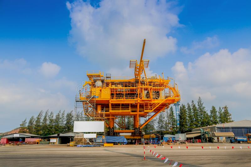 Rig construction stock image