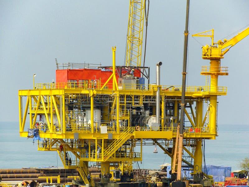 Rig platform during construction stock image