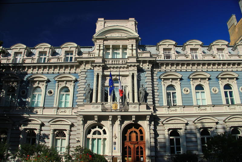 riga Ambasciata francese fotografie stock