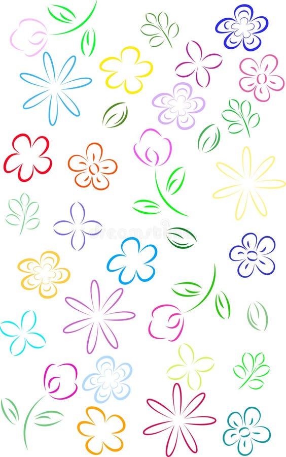 Riga arte del fiore royalty illustrazione gratis