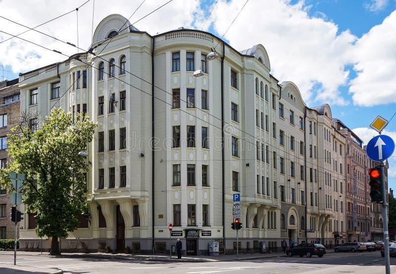 Riga, Baznicas 46, Art Nouveau, architect Konstantin Pekshens royalty-vrije stock fotografie