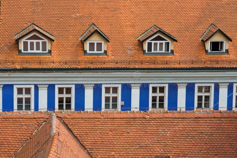 Riga blu della finestra fotografia stock libera da diritti