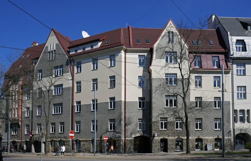 Riga, boulevard 10, romantisme national de Kronvalda photos libres de droits