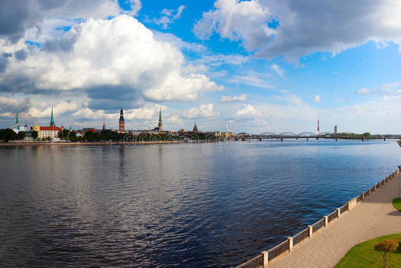 Riga, capital de Letonia. imágenes de archivo libres de regalías