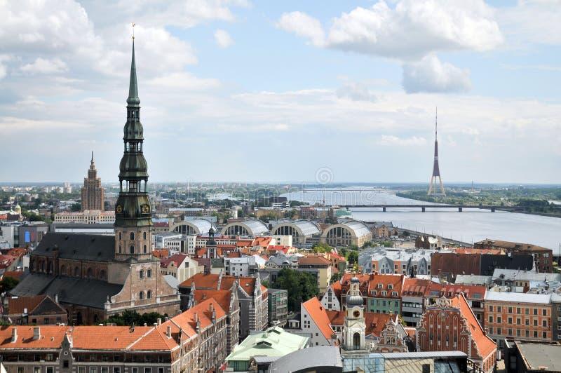 Riga capitale del Latvia immagine stock