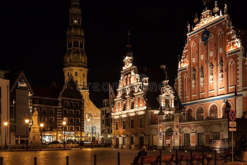 Riga - capitale della Lettonia. Vecchia città, fotografia stock