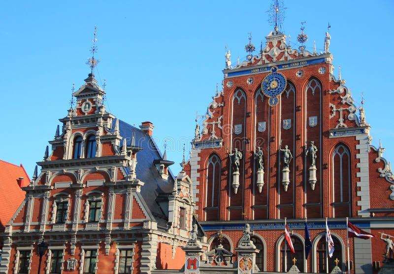 Riga, casa de espinillas fotos de archivo