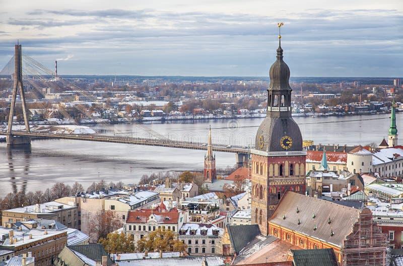 Riga central imagem de stock
