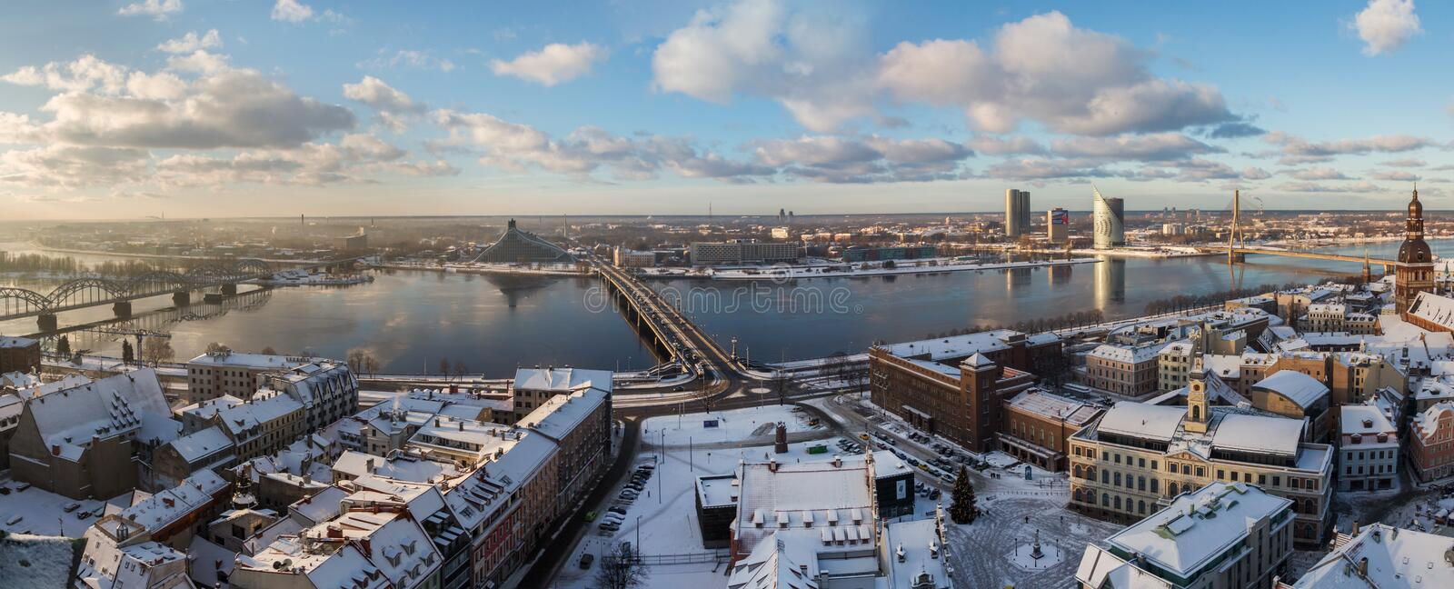Riga city view from above, Latvia stock images