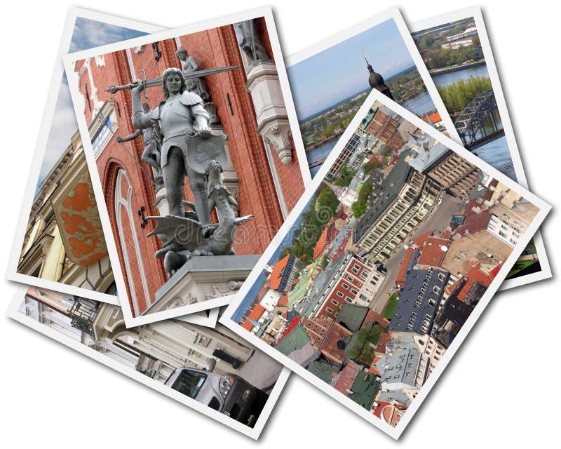 Riga Collage stock image