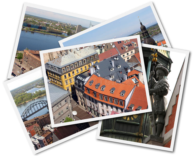 Riga Collage stock photography