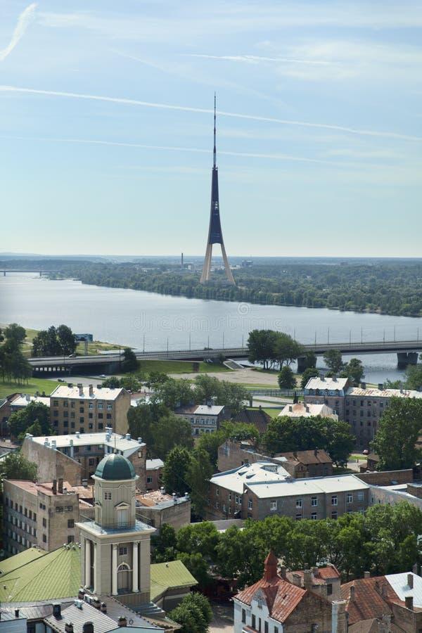 Riga communication tower stock image
