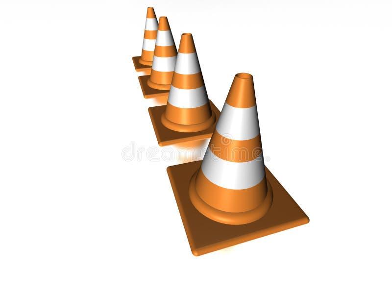 Riga dei coni illustrazione di stock