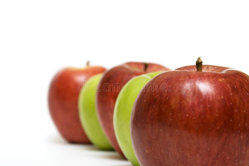 Riga del Apple immagini stock