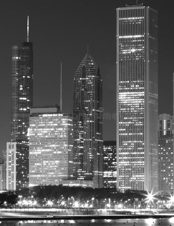 Riga del cielo del Chicago fotografia stock libera da diritti