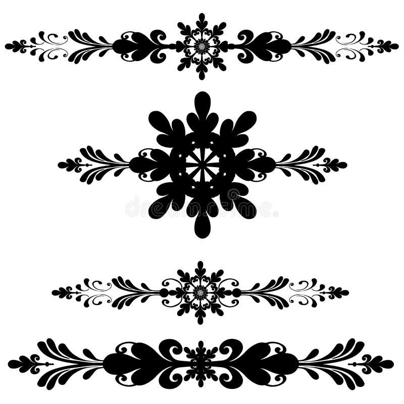 Riga del Ornamental della decorazione della barra illustrazione vettoriale