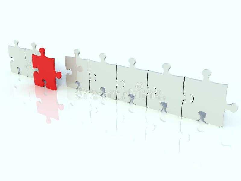 Riga del puzzle bianco royalty illustrazione gratis