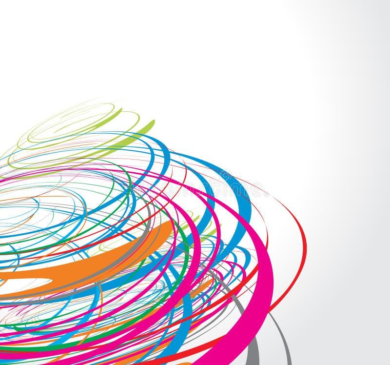 Riga dell'onda del Rainbow illustrazione di stock