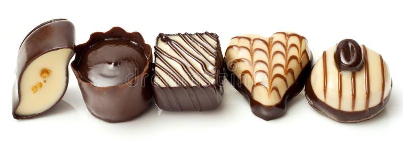 Riga della caramella di cioccolato fotografia stock libera da diritti