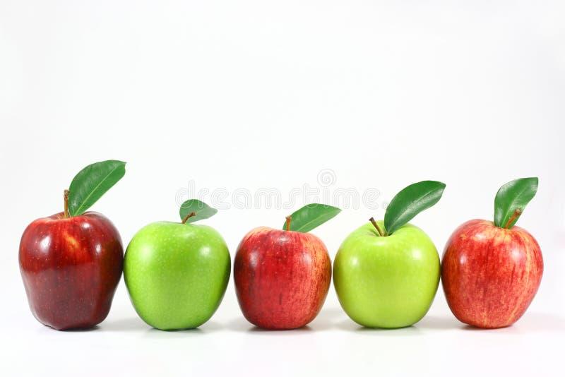 Riga della mela immagine stock