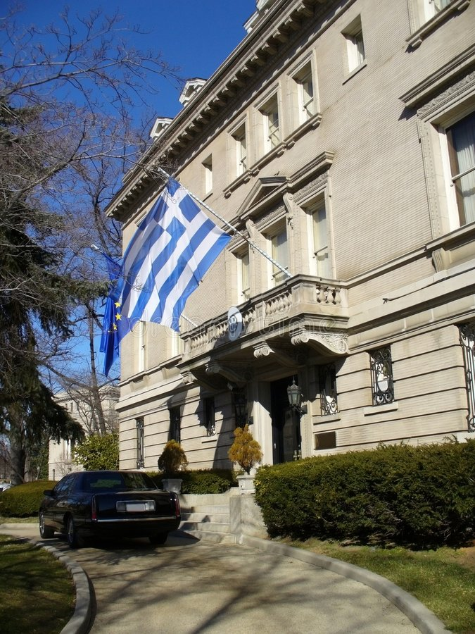 Riga di ambasciata immagini stock