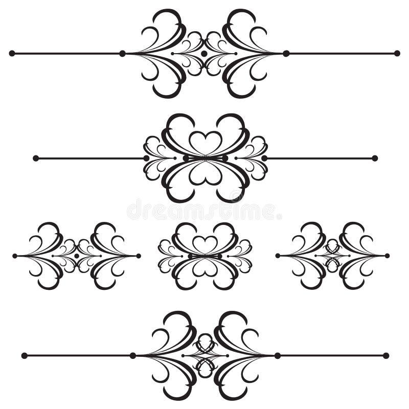 Riga di barra ornamentale divisore 42 royalty illustrazione gratis