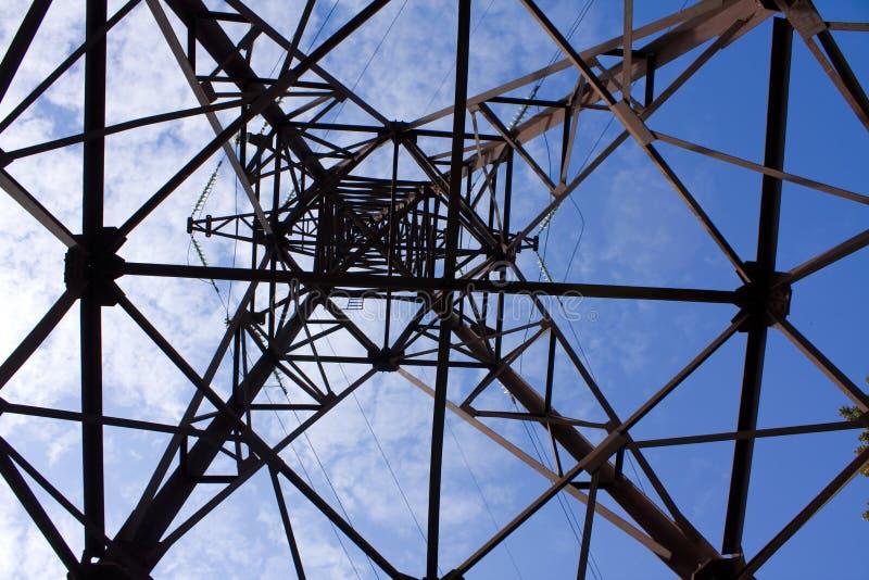 Riga di trasmissioni di elettricità immagini stock libere da diritti