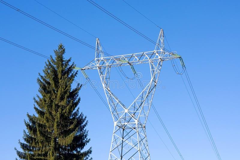 Riga di trasporto di energia fotografia stock