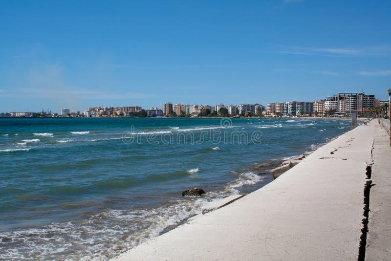 Riga di Vlora, Albania del litorale immagini stock libere da diritti