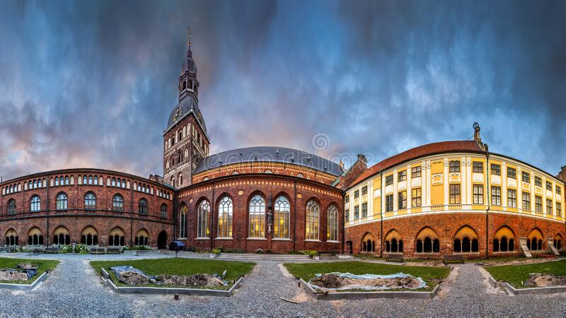 Riga Dome cathedral inner courtyard stock photography