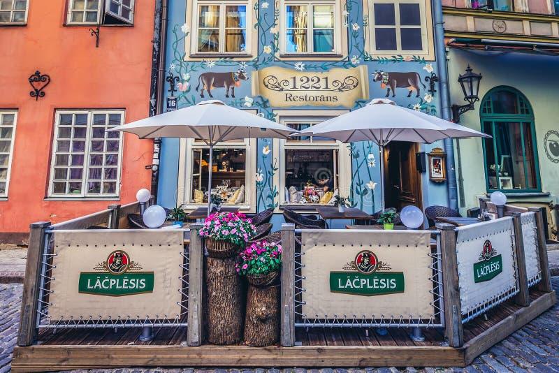 Riga i Lettland arkivbilder