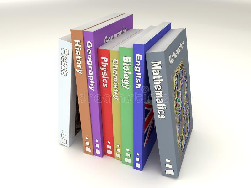 Riga inglese dei libri di banco royalty illustrazione gratis