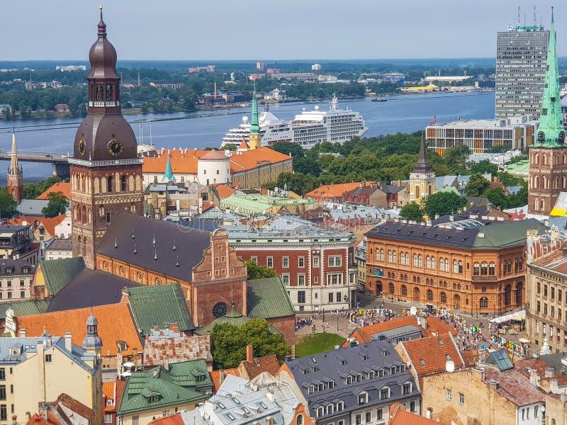 Riga ist die Hauptstadt von Lettland stockbild