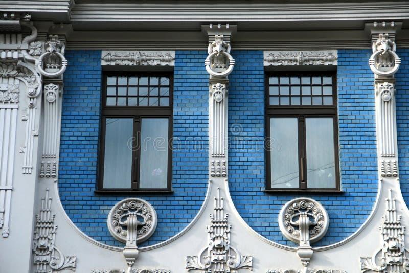 Riga, Jugendstildistrict stock foto