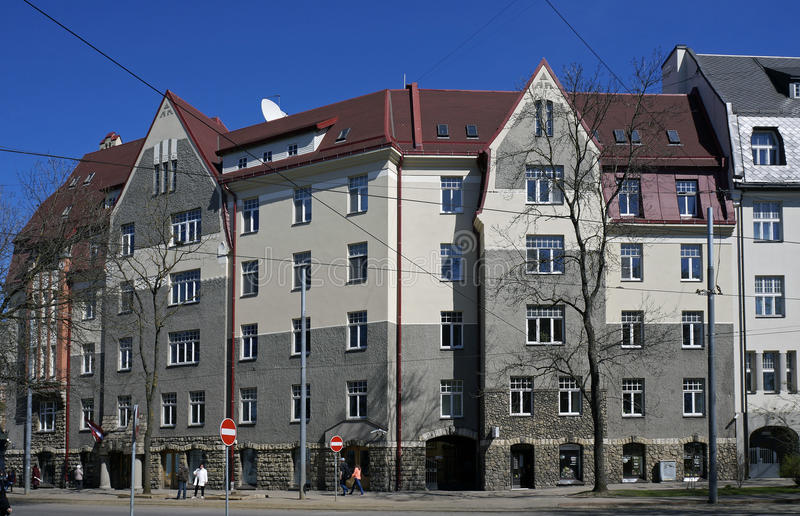 Riga, Kronvalda-boulevard 10, Nationale Romantiek royalty-vrije stock foto's
