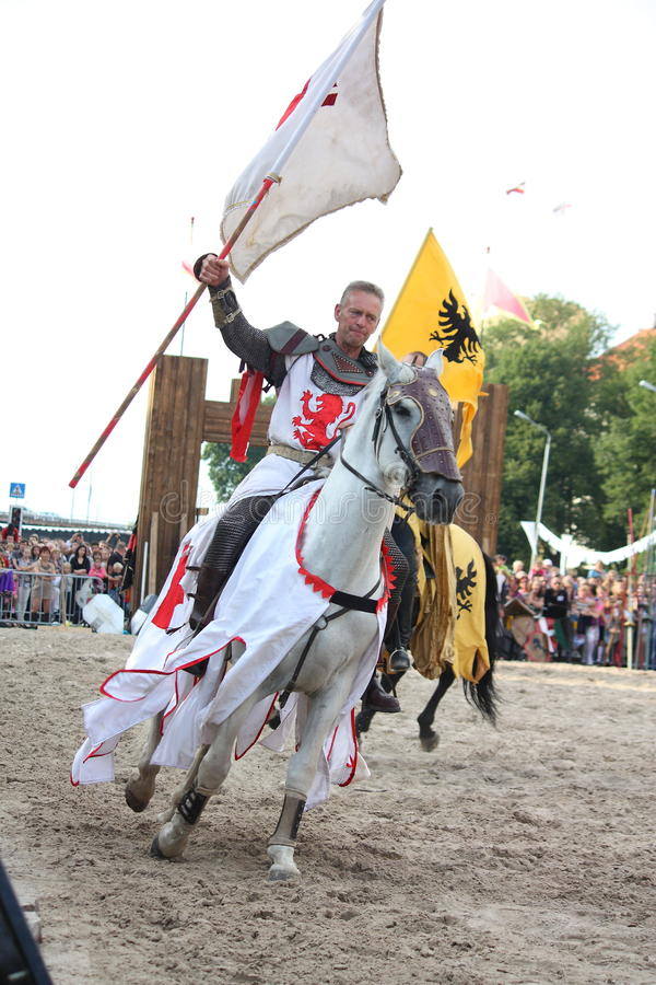 Free RIGA, LATVIA - AUGUST 21: Member Of The Devils Horsemen Stunt Te Stock Photo - 36317150