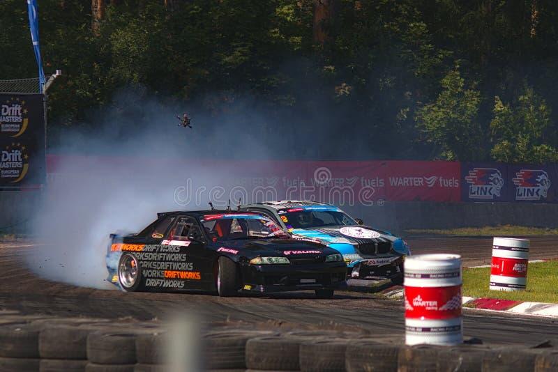 Riga, Latvia - August 02, 2019 - Pawel Korpulinski versus Martin Richards royalty free stock photos
