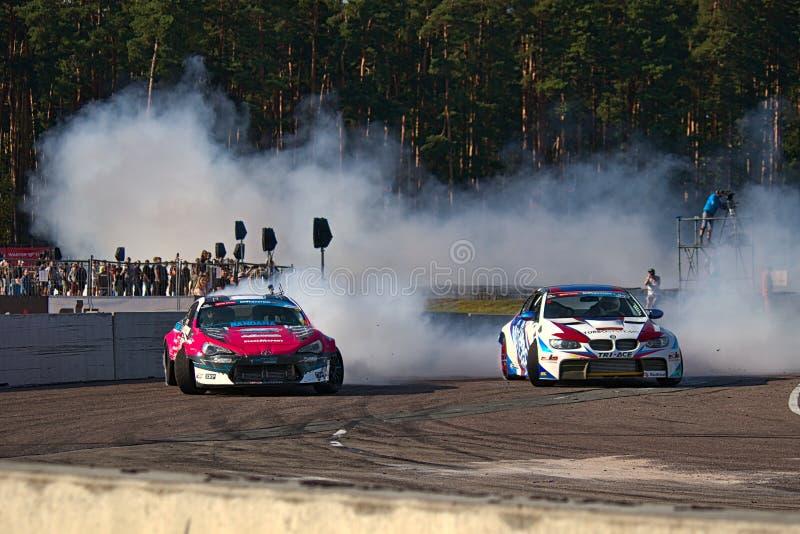 Riga, Latvia - August 02, 2019 - Jack Shanahan versus Andrius Vasiliauskas royalty free stock photography