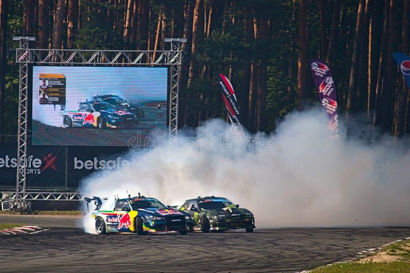 Riga, Latvia - August 02, 2019 - Johannes Houtondji versus Stephen Biagioni royalty free stock photography