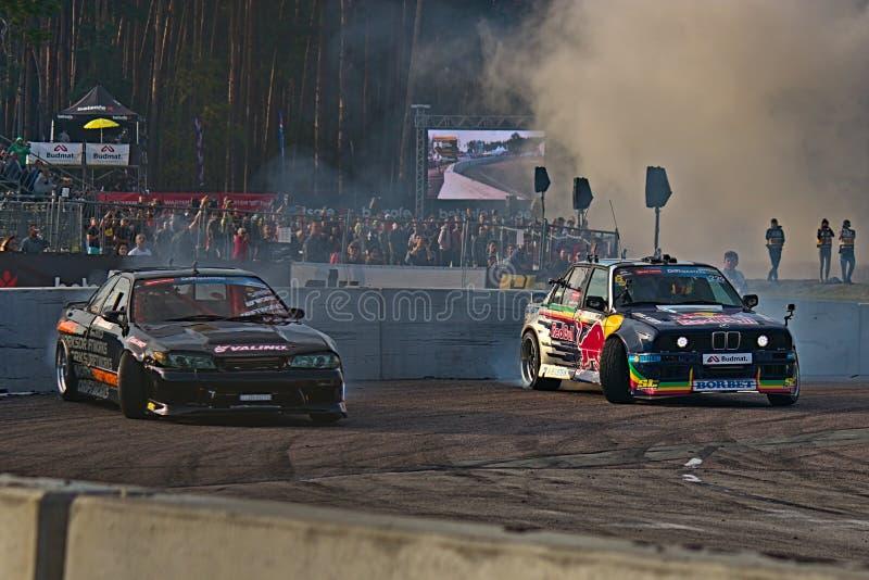 Riga, Latvia - August 02, 2019 - Martin Richards versus Elijas Houtondji stock image