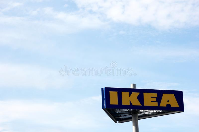 ,Large IKEA Signboard stock photo