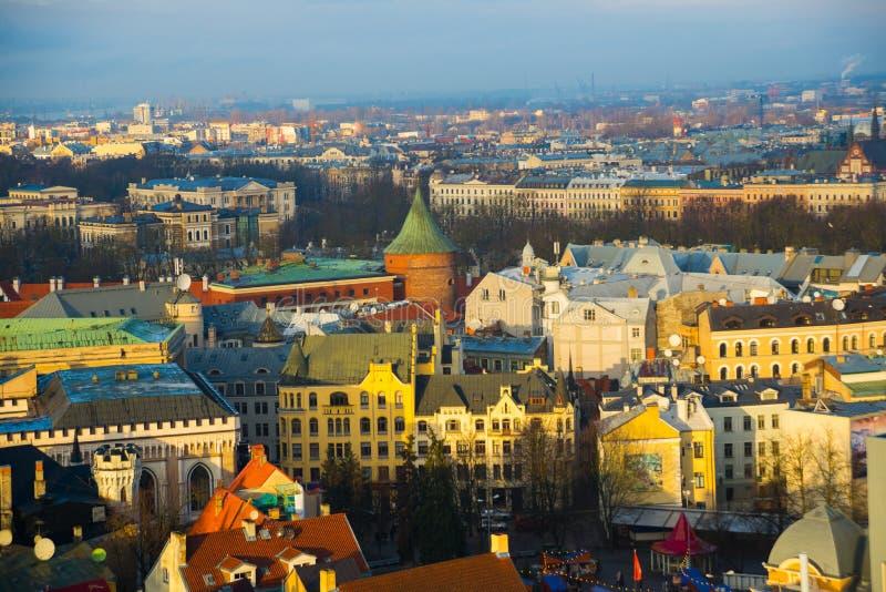 Riga, Latvia: Beautiful view of the city from above royalty free stock photos