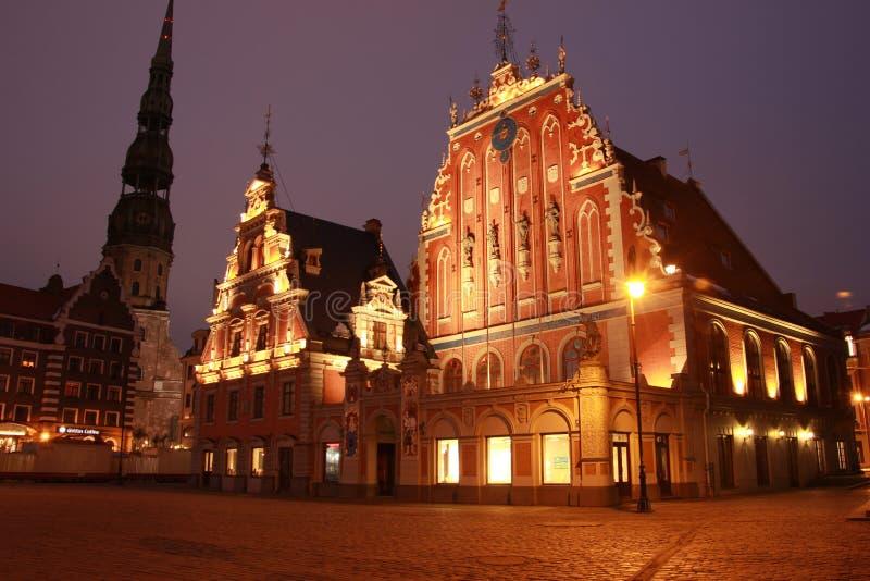 Riga, Latvia - House of the Blackheads royalty free stock photography